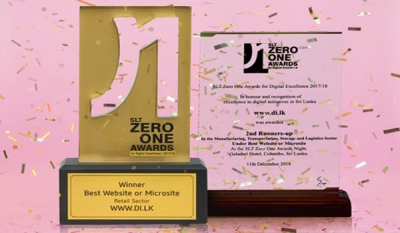 www.di.lk scores two awards at SLT ZeroOne Awards