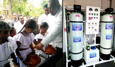 Jinasena launches Sri Lanka's first-ever Nano Technology Water Purification Plant in Polonnaruwa
