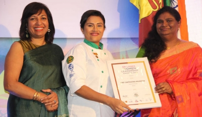 Knorr Chef Chathurika bestowed with 2018 'Women's Leadership Excellence' citation at The Sri Lanka Women's Leadership Awards 2018