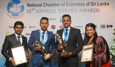 Halpé Tea Clinches Two Gold Awards at National Export Awards 2015