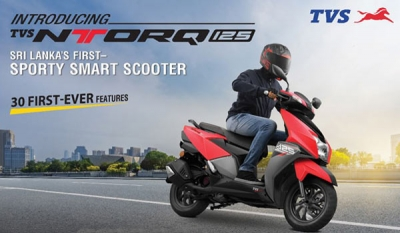 TVS Motor Company launches its stylish, sporty SMART scooter – TVS NTORQ 125 in Sri Lanka
