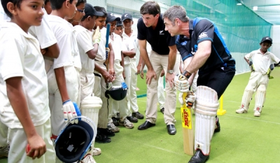 New Zealand Minister and cricketer Stephen Fleming promote cricket ties in Sri Lanka